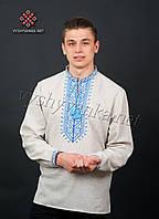 Чоловіча вишиванка з довгим рукавом на льоні