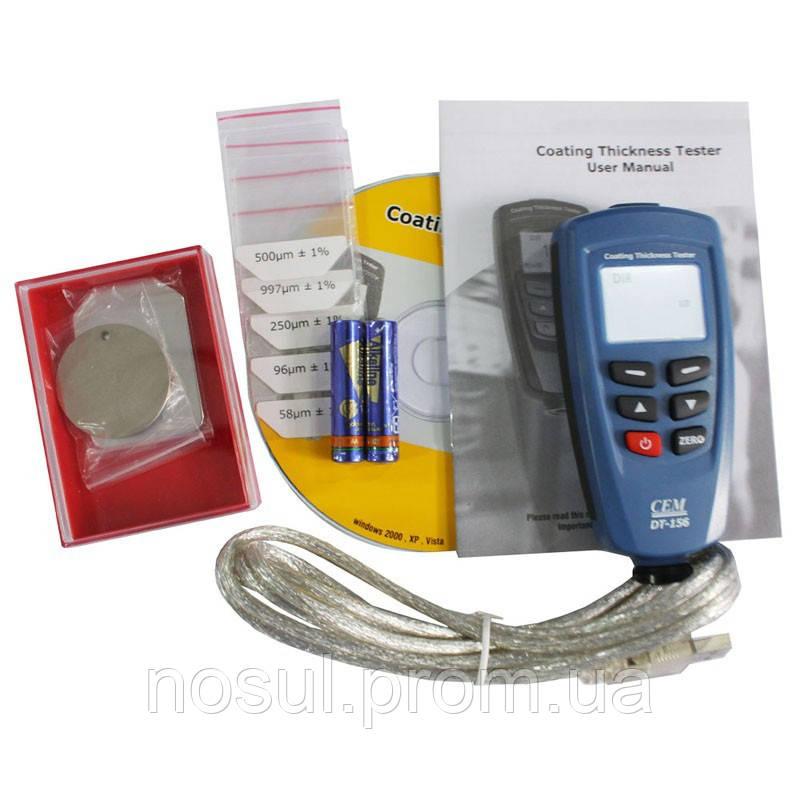 Толщиномер CEM DT-156 Fe NFe 0-1250um (аналоги Horstek TC315 АТЕ-7156 ADA ZCT777 Extech Cg204)  электронный,