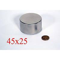 Неодимовый магнит 45х25 (вода,газ,электро)для поисковых работ