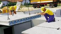 Монтаж панелей перекрытия, монтаж железобетонных пустотных или облегчённых плит перекрытия