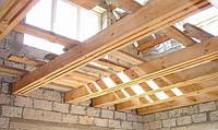 Монтаж деревянного перекрытия, установка деревянных балок перекрытия