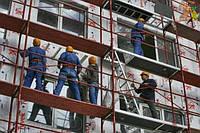 Фасадные работы (пенопласт, стяжка, покраска) в Киеве и Киевской области
