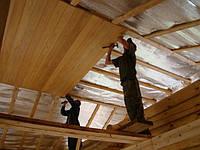 Монтаж вагонки деревянной, пластиковой на потолок