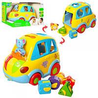 """Музыкальная развивающая игрушка сортер для ребенка """"Автошка"""" 9198 (896)"""