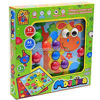 Детская развивающая игра Мозаика Fun Game 12 платформ с рисунками, 46 элементов 7393