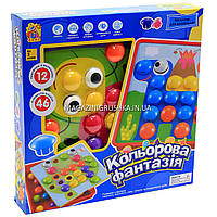 Детская развивающая игра Мозаика Fun Game 12 платформ с рисунками, 46 элементов 7033