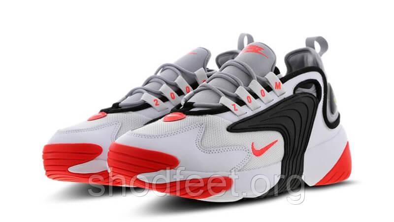 Мужские кроссовки Nike Zoom 2K Black White Red