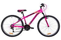 """Велосипед 26"""" Discovery RIDER AM 14G Vbr St 2019 (малиново-черный с желтым)"""