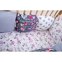 Комплект мягких бортиков-подушек в детскую кроватку, фото 1