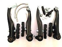 Тормоз V-brake задний+передний в сборе 120мм SYPO FD-M311 (AFT) универсальна тяга Down-Swing