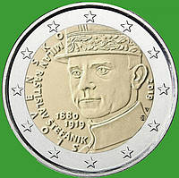 Словакия 2 евро 2019 г. 100 лет со дня смерти Милана Ростислава Штефаника . UNC.
