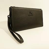Клатч мужской кожаный 1222 черный, расцветки в наличии, фото 1