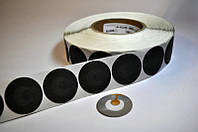 Радиочастотные метки/антикражные наклейки черные КРУГЛЫЕ