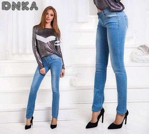 Стрейчевые джинсы с карманами, фото 2
