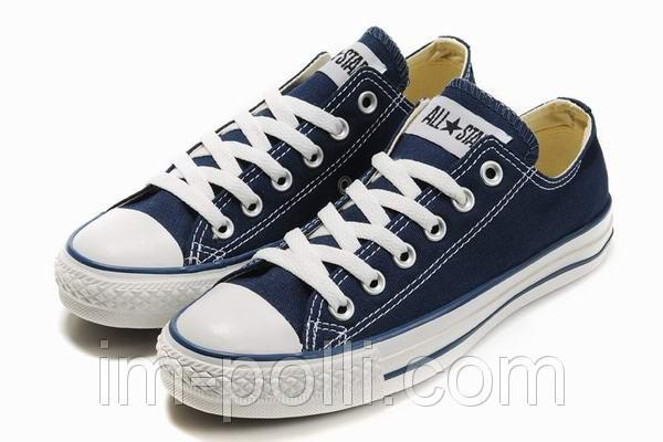 Мужские кеды converse all star темно-синие низкие