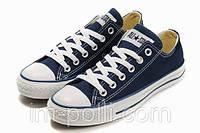 Мужские кеды converse all star темно-синие низкие , фото 1