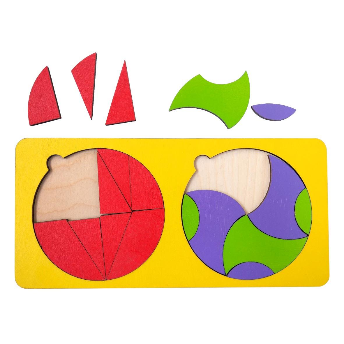 Сортер: 2 круга в рамке