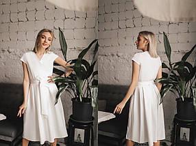 """Приталенное миди-платье на запах """"BRANDA"""" с коротким рукавом (6 цветов), фото 3"""