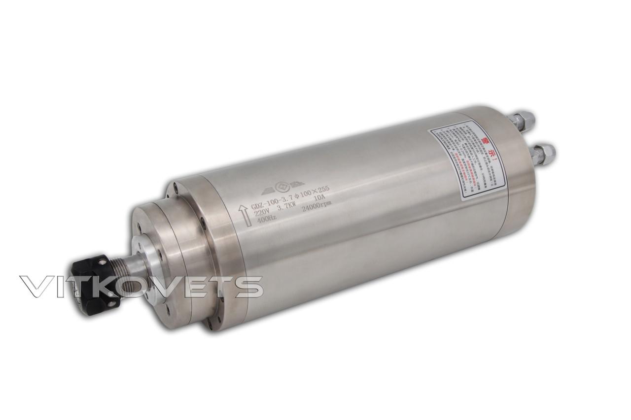 Шпиндель GDZ-100-3.7 100X255, 3.7 kW 10А ER20 водяное охлаждение