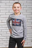 Кофта для мальчика с печатью Флаг меланж от производителя