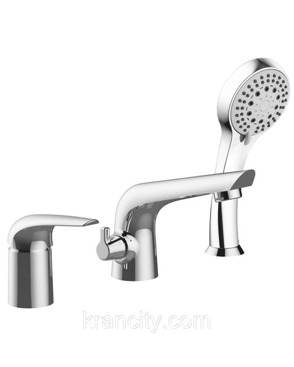 Смеситель для ванной на три отверстия Imprese KRINICE 85110,Чехия,сатин