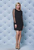 Короткое женское платье с рукавами сетка от производителя