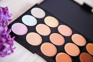 Профессиональная палитра корректоров для лица 15 цветов, фото 2
