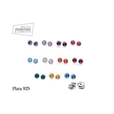 10 пар сережек-гвоздиков с камнями разных оттенков, фото 2