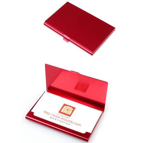 Стильная визитница/кредитница с алюминиевым корпусом, фото 2