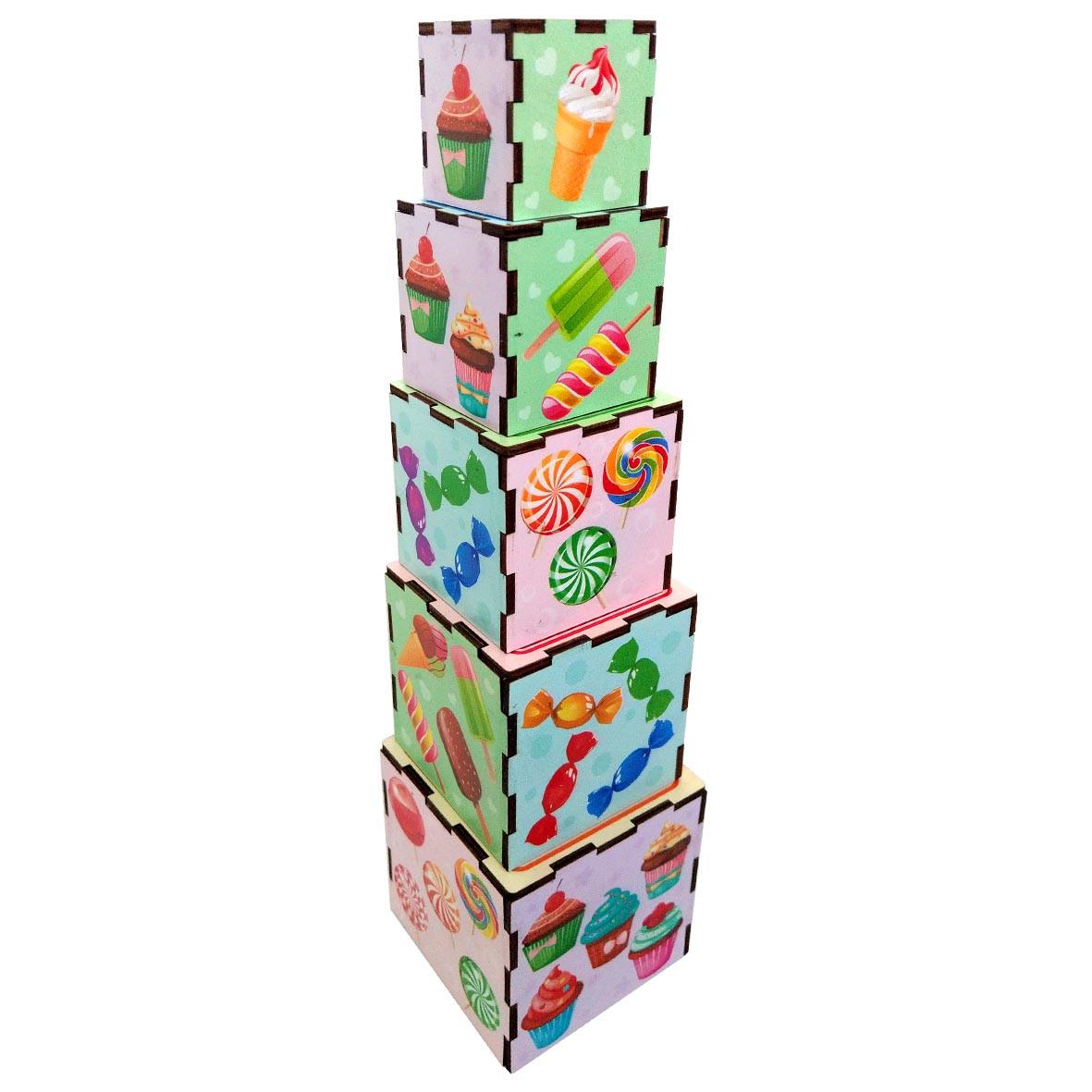Кубики - матрёшки: Сладости