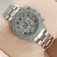 Женские механические наручные часы Rolex Full Diamond, Silver, фото 1