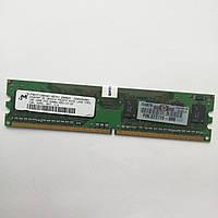 Оперативная память Micron DDR2 1Gb 667MHz PC2 5300U 1R8 CL5 (MT8HTF12864AY-667E1) Б/У