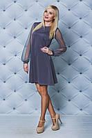Женское платье А-силуэта темно-серое от производителя