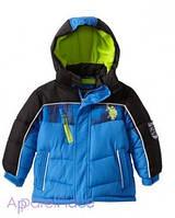 U.S.Polo Assn Куртка синяя, зеленый флис