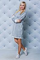 Платье женское на меху светло-серое от производителя