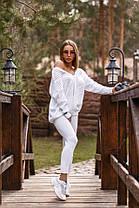 Костюм женский вязаный штаны и кофта с вырезом OG, фото 2