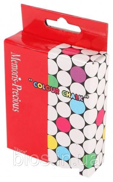 Крейда кольорова 12шт. циліндричної форми