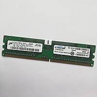 Оперативная память Micron DDR2 1Gb 667MHz PC2 5300U 1R8 CL5 (MT8HTF12864AY-667G1) Б/У