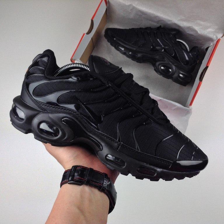 95b359ea Nike Air Max Tn Plus Triple Black | кроссовки мужские и женские; летние;  черные
