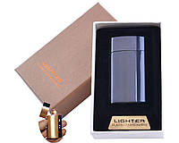 USB зажигалка в подарочной упаковке Lighter (Спираль накаливания) XT-4981 Black