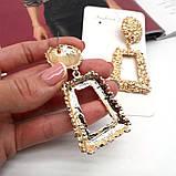 Золотистые серьги гвоздики, фото 4