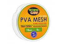 PVA сетка медленно растворимая 15мм, 5м.