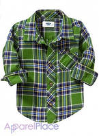 OldNavy Рубашка в зеленую клетку