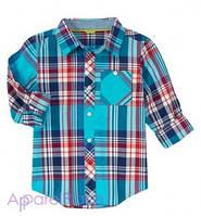 Gymboree Рубашка в голубую клетку с карманом