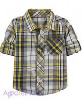 OldNavy Рубашка в серо-желтую клетку