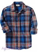 OldNavy Рубашка в синюю клетку