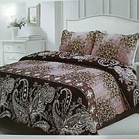 Стеганное велюровое покрывало на двуспальную кровать с 2 наволочками, евро размер