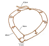 Очень красивая цепочка (колье, ожерелье) со звездами moon, фото 2