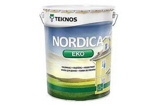 Водная белая полуматовая краска для наружного применения TEKNOS NORDICA EKO 3330-03