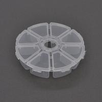 Пластмассовый ящик для радиодеталей, диаметр 100мм, 8 отделений